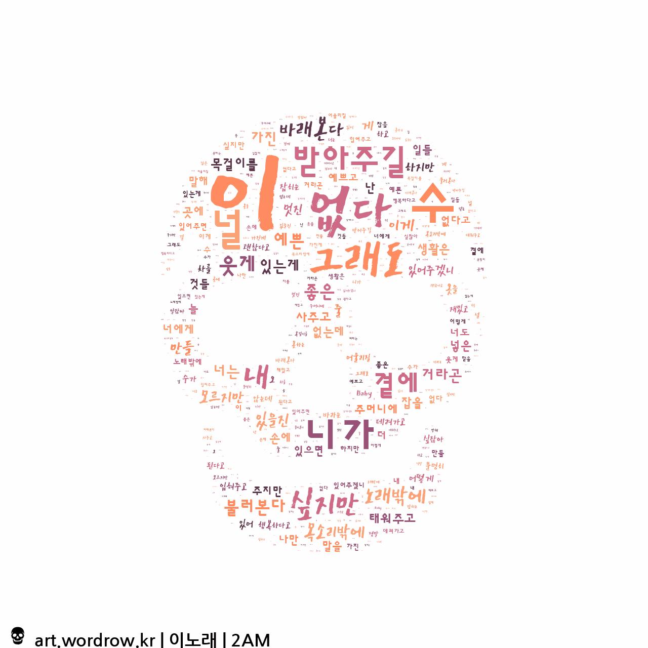 워드 아트: 이노래 [2AM]-63